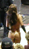 "Dawn Marie Here is a shot I took of her ass at a local 'house' show of Smackdown. It was with a 2MP camera, but you can still see that wicked ass. Foto 29 (Доун Мари Псалтис Вот снимок я взял ее задницу в местном ""доме"" шоу Smackdown.  Фото 29)"